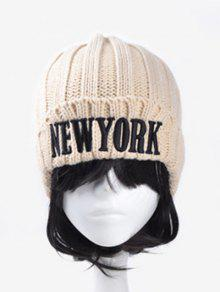 Buy Embroidery New York Knitted Hat - OFF-WHITE