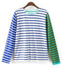 Colorful Stripe T-Shirt - Blue M