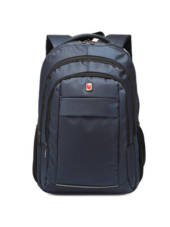 حقيبة الظهر بسحاب معدني - الأرجواني الأزرق