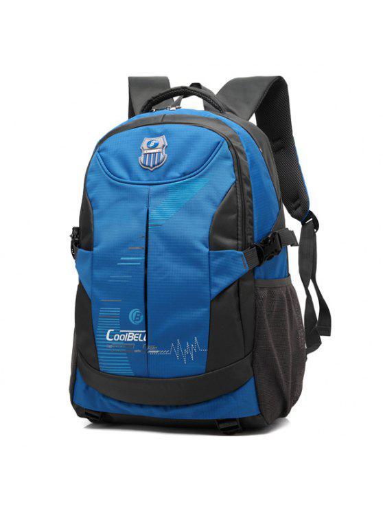 حقيبة الظهر بسحاب نايلون كهنوتي - أزرق