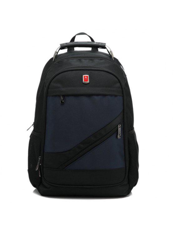 حقيبة الظهر بسحاب معدني نايلون - الأرجواني الأزرق