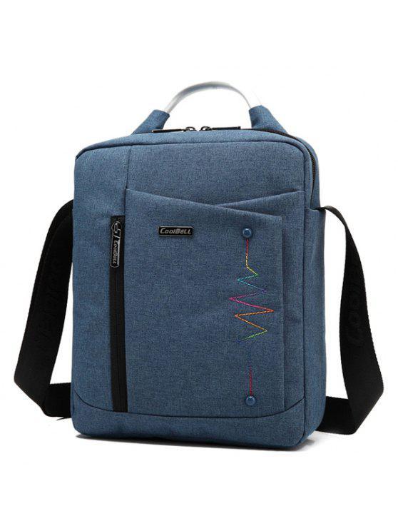 حقيبة طويلة التمر بالجسم بسحاب - الأرجواني الأزرق