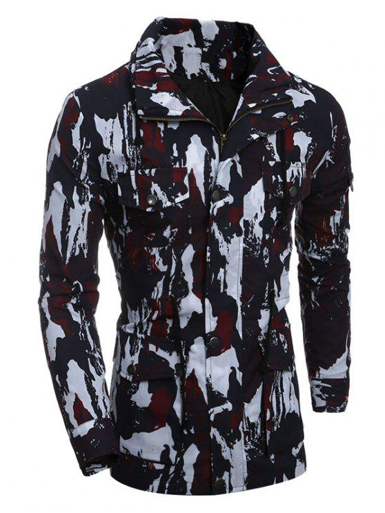 معطف متعددة جيب الرمز حتى التمويه - أحمر M