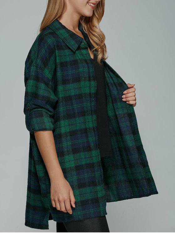 latest BF Style Plaid Shirt - BLUE M