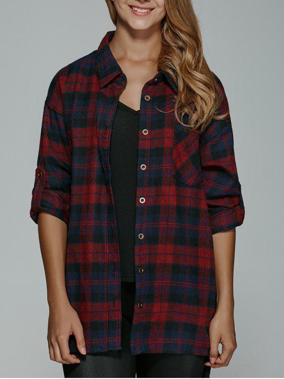 BF Style Plaid Shirt - Rosso XL