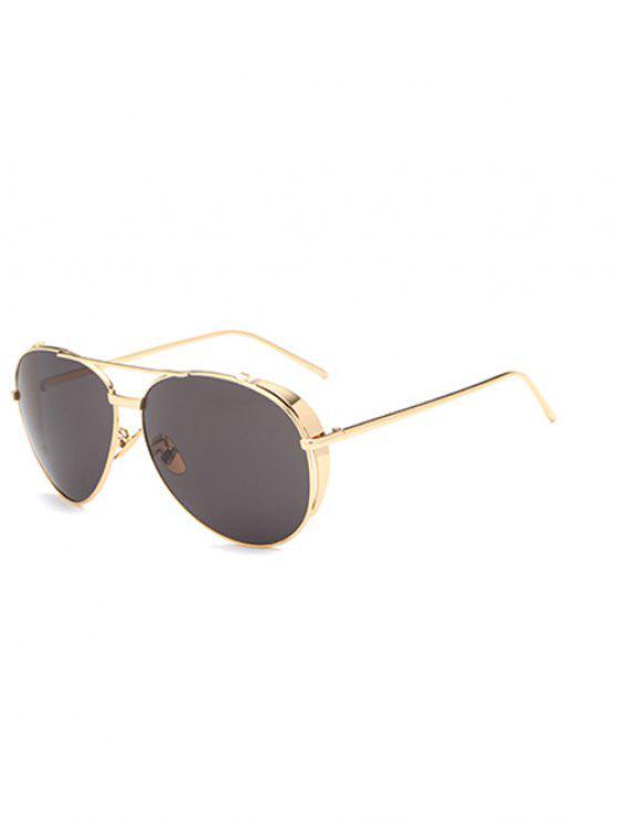 Barra de metal piloto gafas de sol - Dorado
