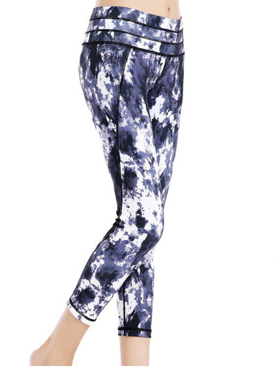Tie Dye elastico Sport Leggings - colori misti L