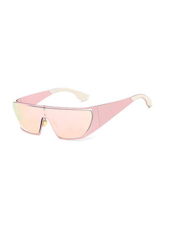 fancy Hollow Out Cycling Mirrored Sunglasses - PINK