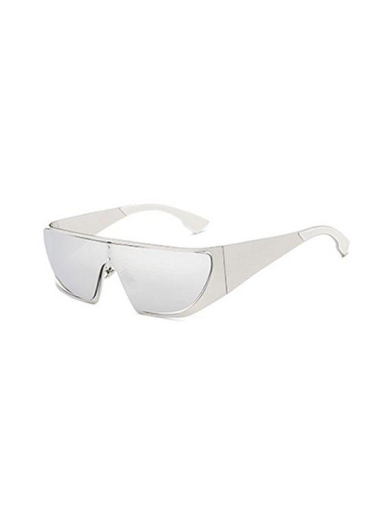 unique Hollow Out Cycling Mirrored Sunglasses - SILVER