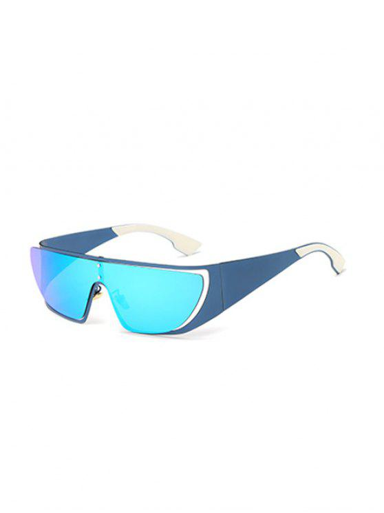 sale Hollow Out Cycling Mirrored Sunglasses - ICE BLUE