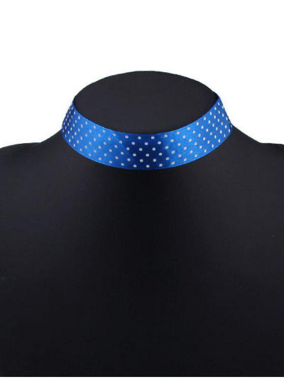 Fita de bolinhas Choker - Azul Brilhante