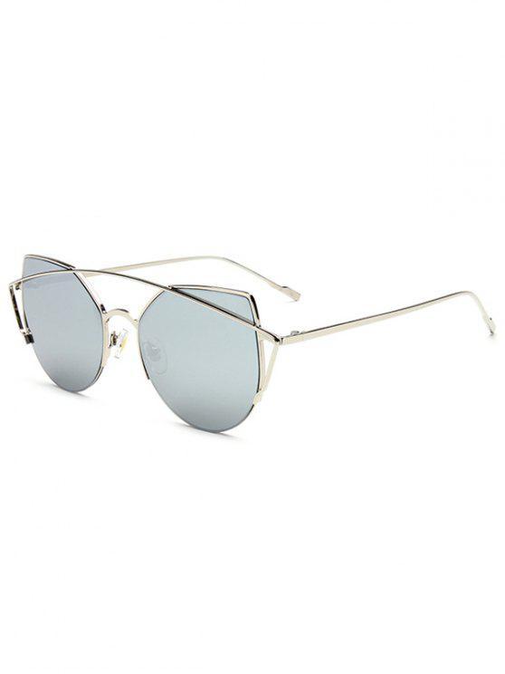 crossbar unregelm ige cat eye verspiegelten sonnenbrillen silver sonnenbrille zaful. Black Bedroom Furniture Sets. Home Design Ideas