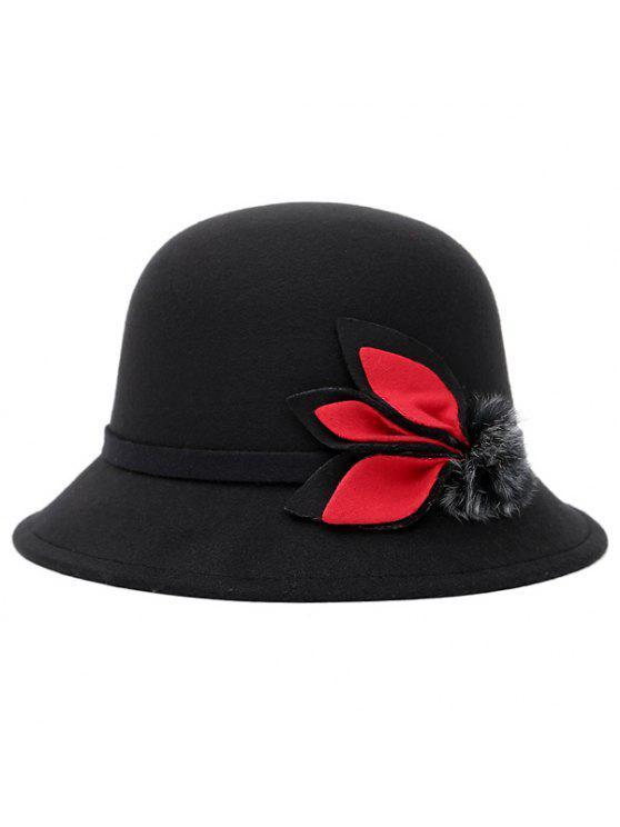 Leaf et boule Downy Agrémentée Bucket Hat - Noir