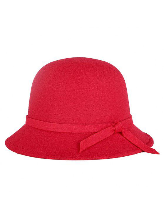 14308dc8059 2019 Winter Band Felt Fedora Hat In RED