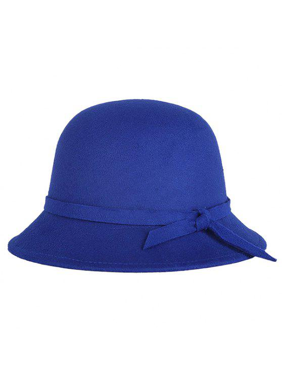 Band Winter Felt Fedora Hat - Bleu saphir