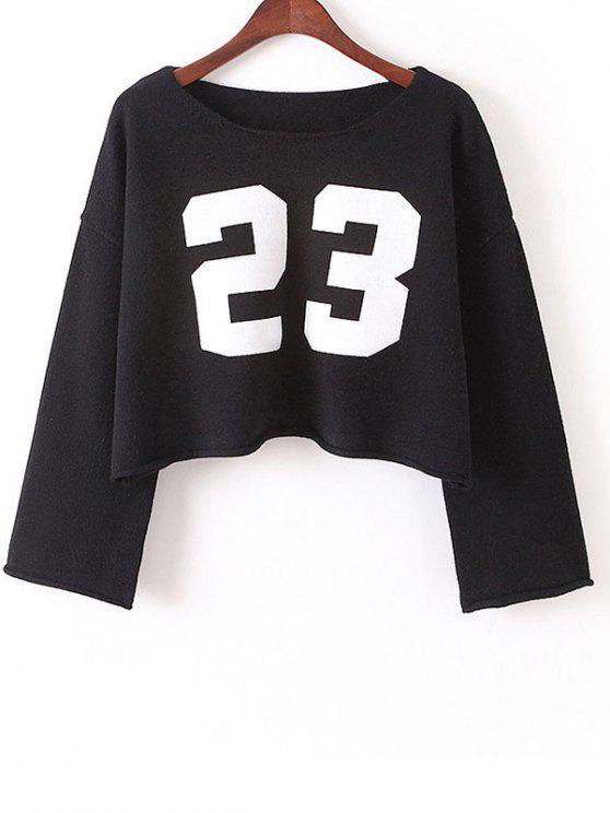 Sweatshirt a graphique tondu - Noir TAILLE MOYENNE