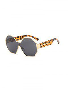 Arrow Leopard Leg Polygon Sunglasses - Brown