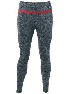 Marled Active Leggings - Gray