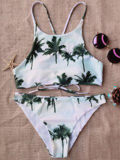 Coconut Palm High Neck Bikini - L