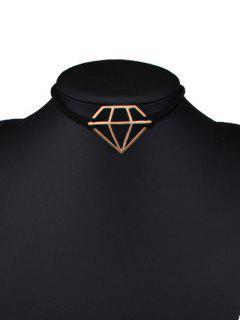 Recortable Diamond Forma Gargantilla - Dorado