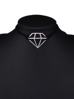 Cut Out Diamond Shape Choker - Silver