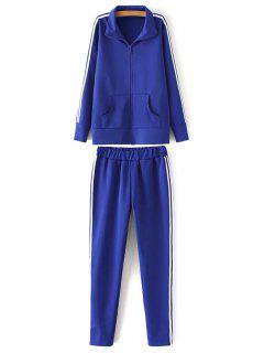 Sporty Jacket And Pants - Sapphire Blue 2xl