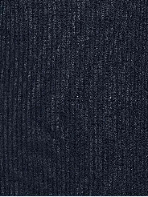 À manches longues Une ligne de robe pull - Bleu Violet S Mobile