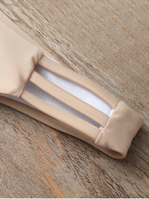 womens Halter Cutout Padded Bikini Set - COMPLEXION S Mobile