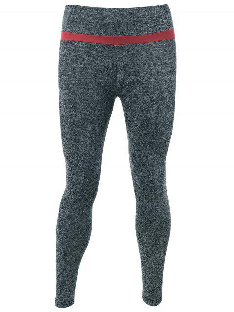 sale Marled Active Leggings - GRAY ONE SIZE Mobile