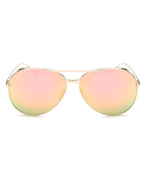 ladies Crossbar Metal Pilot Mirrored Sunglasses -   Mobile