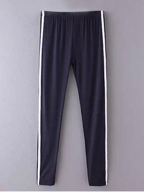 Side Stripe Skinny Casual Hosen - Cadetblue Eine Größe Mobile
