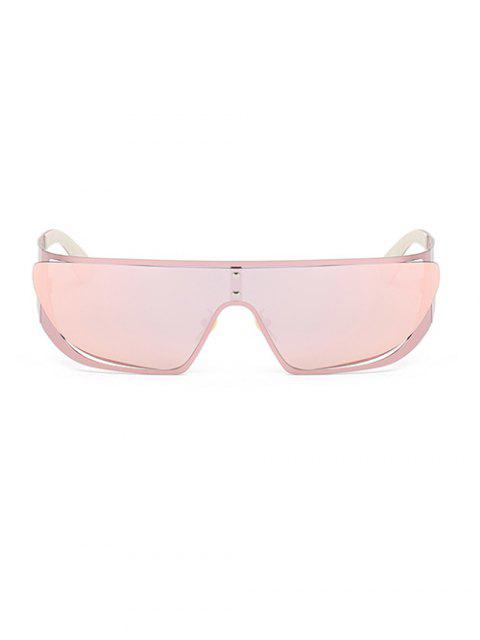 fancy Hollow Out Cycling Mirrored Sunglasses - PINK  Mobile