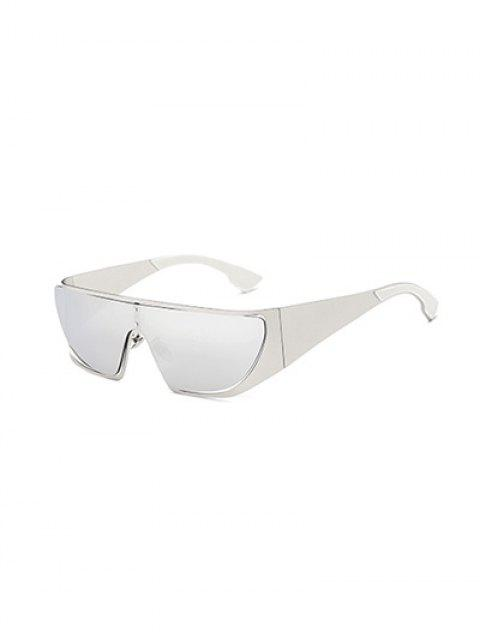 unique Hollow Out Cycling Mirrored Sunglasses - SILVER  Mobile