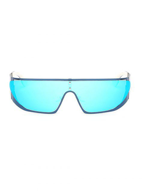 Lunettes de soleil violettes à effet de miroir - Bleu Glacé  Mobile