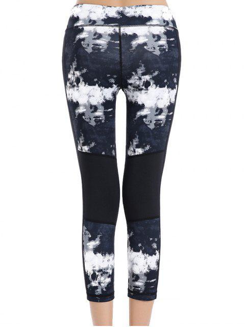 women Print Stretchy Sport Capri Leggings - COLORMIX L Mobile
