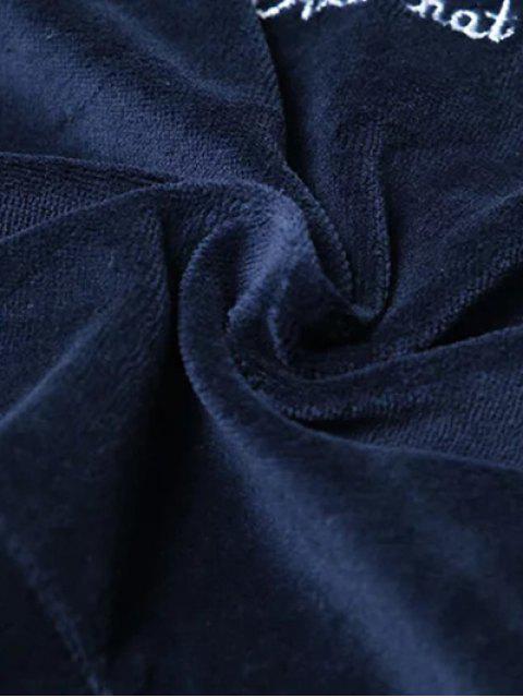 Velvet Pull recadrée Hoodie - Bleu Cadette TAILLE MOYENNE Mobile