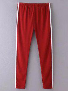 Lado De La Raya De Los Pantalones Flacos Ocasionales - Vino Rojo