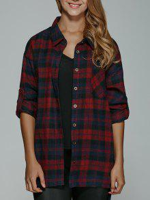 BF Style Plaid Shirt - Red Xl