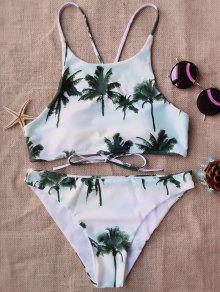 La Palma De Coco Del Bikini De Cuello Alto - L