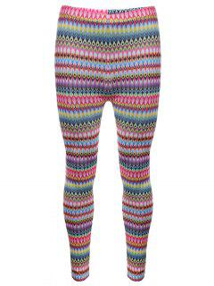 Tribal Print Skinny Leggings - Pink