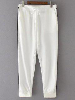 Pantalones Para Correr Lado De La Raya De La Novena - Blanco S