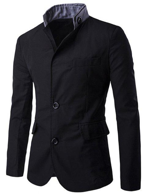 women's Color Splicing Single-Breasted Blazer -   Mobile