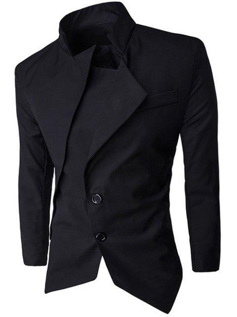 women Stand Collar Asymmetrical Men Blazer -   Mobile