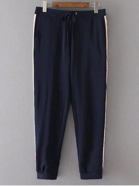 latest Side Stripe Ninth Running Pants - CADETBLUE M Mobile