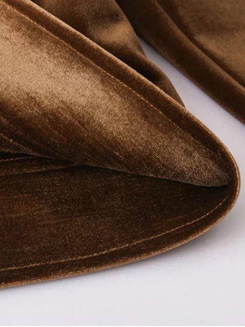 Zip Up Velvet Jacket - Brun M Mobile