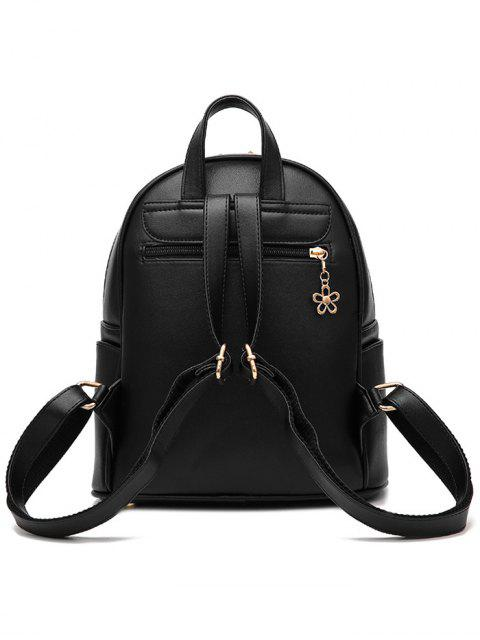 trendy PU Leather Crocodile Embossed Backpack -   Mobile