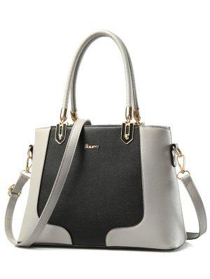 Métal Color Block cuir PU Tote
