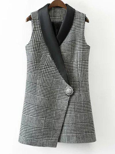 HOUNDSTOOTH One Button Waistcoat