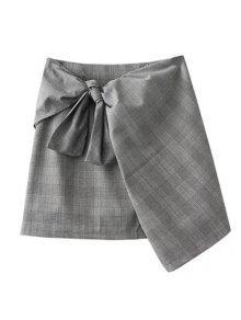 Plaid Mini Falda Del Abrigo - Gris M