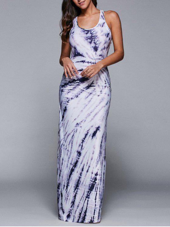 فستان روسيرباك ملائم بلا أكمام - أبيض L